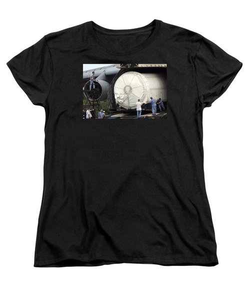 Women's T-Shirt (Standard Cut) featuring the photograph Unloading A Titan Ivb Rocket by Science Source