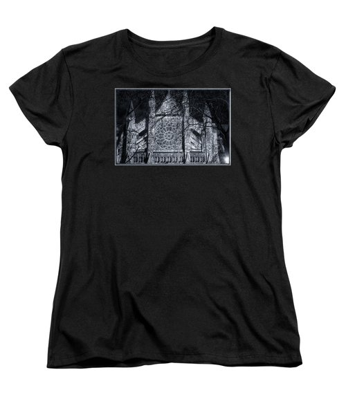 Westminster Abbey North Transept Women's T-Shirt (Standard Cut) by Joan Carroll