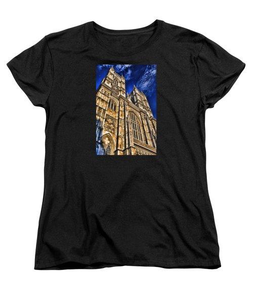 Westminster Abbey West Front Women's T-Shirt (Standard Cut) by Stephen Stookey