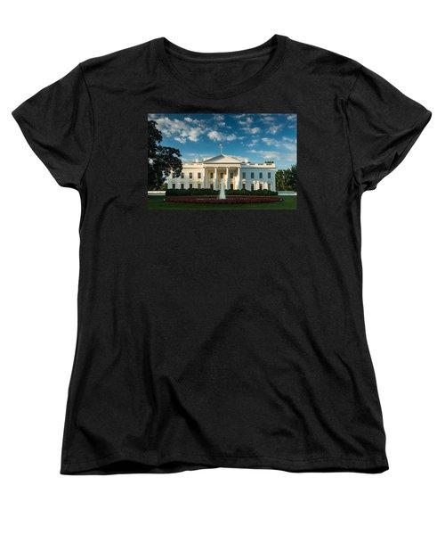 White House Sunrise Women's T-Shirt (Standard Cut) by Steve Gadomski