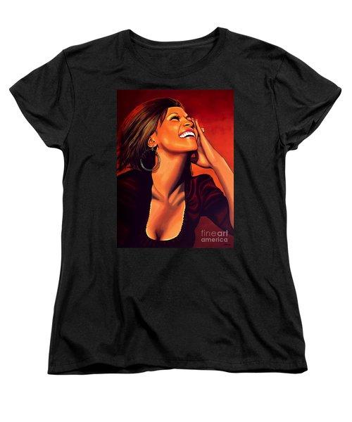 Whitney Houston Women's T-Shirt (Standard Cut) by Paul Meijering