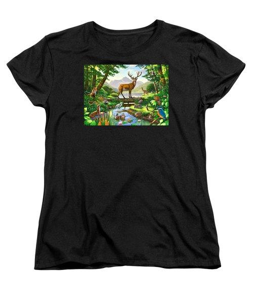 Woodland Harmony Women's T-Shirt (Standard Cut) by Chris Heitt