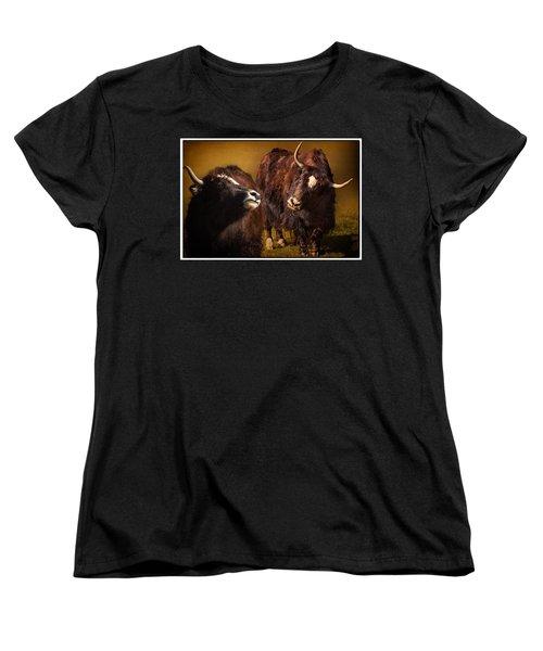 Yak Love Women's T-Shirt (Standard Cut) by Priscilla Burgers