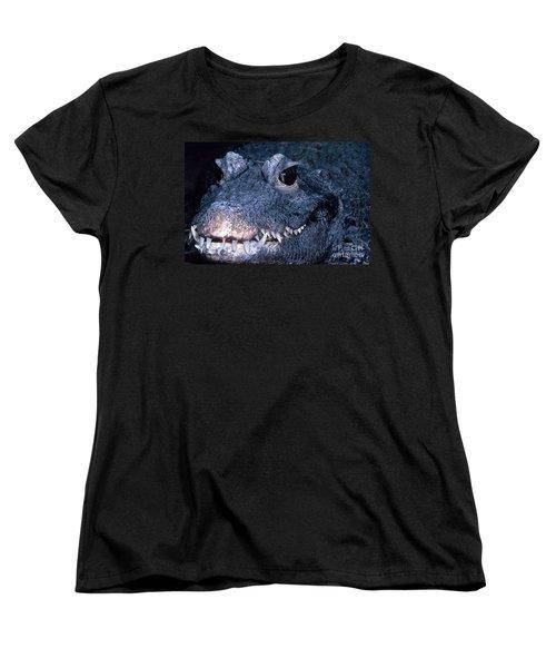 African Dwarf Crocodile Women's T-Shirt (Standard Cut) by Dante Fenolio