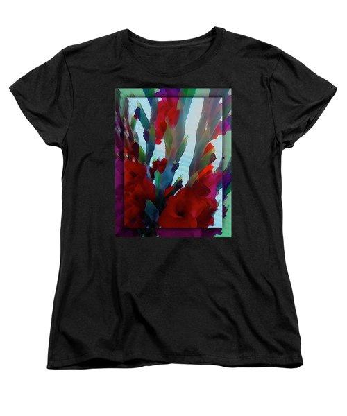 Women's T-Shirt (Standard Cut) featuring the digital art Glad by Richard Laeton