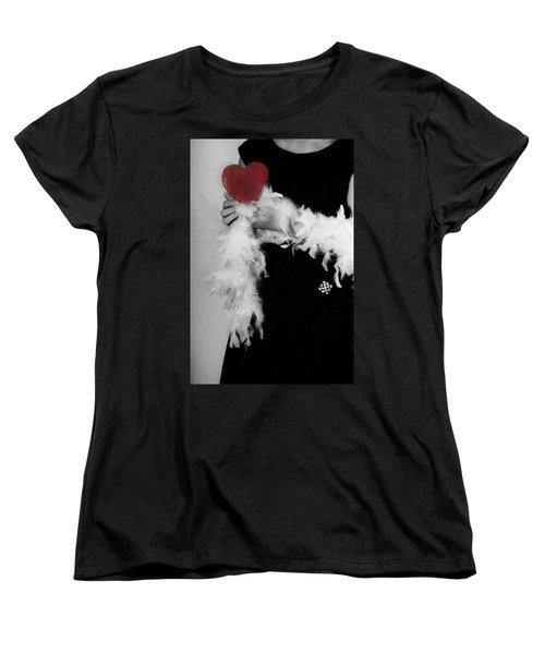 Lady With Heart Women's T-Shirt (Standard Cut) by Joana Kruse