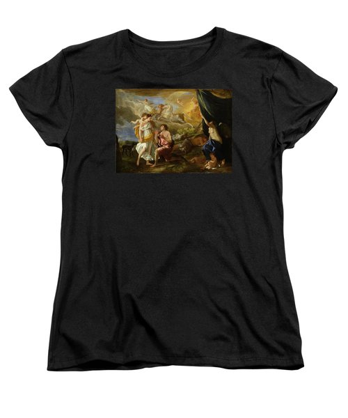 Selene And Endymion Women's T-Shirt (Standard Cut) by Nicolas Poussin