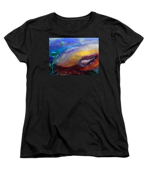Women's T-Shirt (Standard Cut) featuring the digital art Travel by Richard Laeton