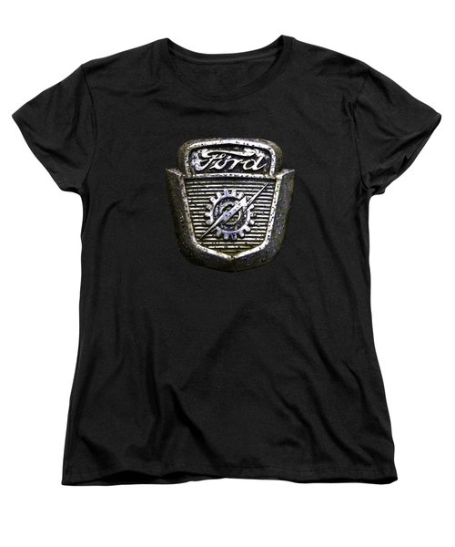 Ford Emblem Women's T-Shirt (Standard Cut) by Debra and Dave Vanderlaan