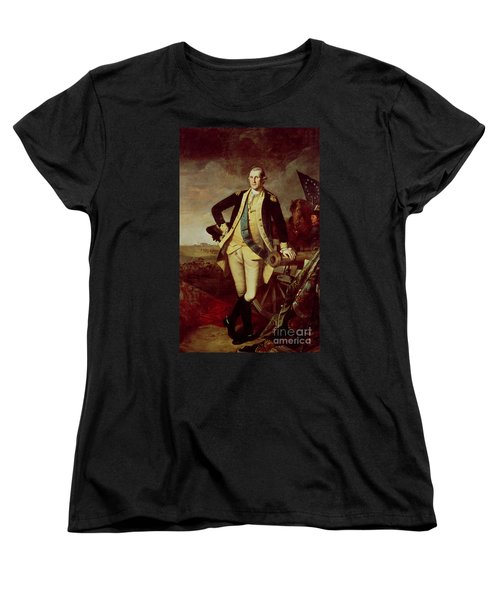 Portrait Of George Washington Women's T-Shirt (Standard Cut) by Charles Willson Peale