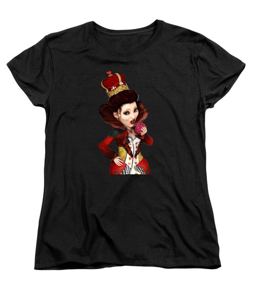 Queen Of Hearts Portrait Women's T-Shirt (Standard Cut) by Methune Hively