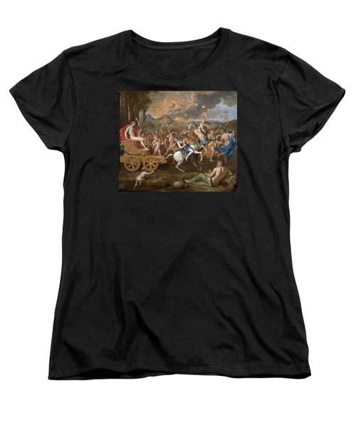 The Triumph Of Bacchus Women's T-Shirt (Standard Cut) by Nicolas Poussin