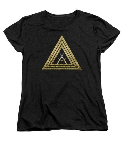 15th Degree Mason - Knight Of The East Masonic Jewel  Women's T-Shirt (Standard Cut) by Serge Averbukh