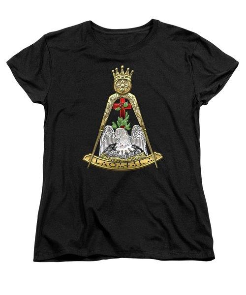18th Degree Mason - Knight Rose Croix Masonic Jewel  Women's T-Shirt (Standard Cut) by Serge Averbukh