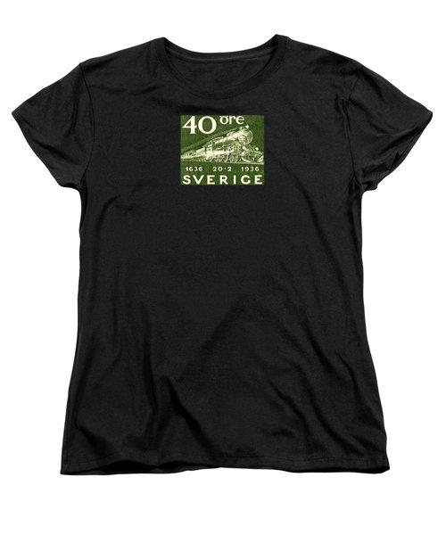 1936 Swedish Railroad Stamp Women's T-Shirt (Standard Cut) by Historic Image