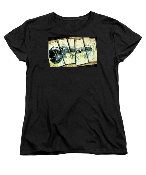 1955 Les Paul Custom Black Beauty V2 Women's T-Shirt (Standard Cut) by Gary Bodnar