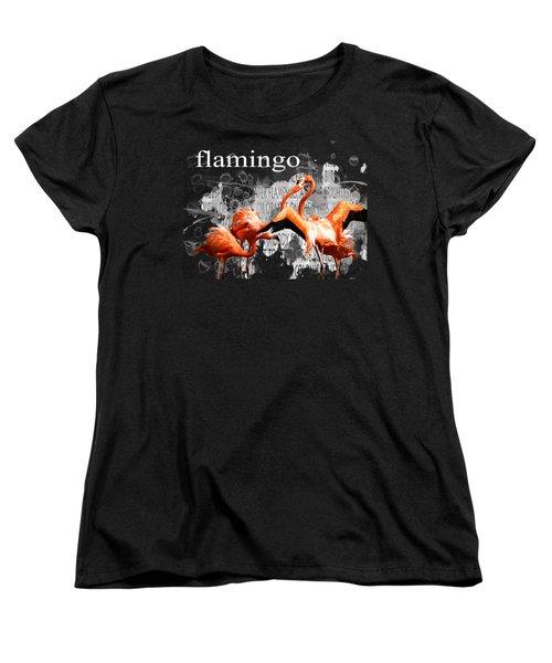 Flamingo Women's T-Shirt (Standard Cut) by Methune Hively