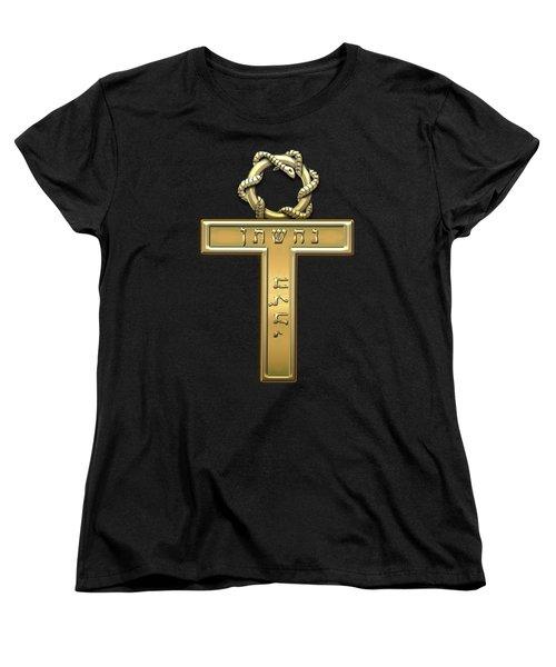 25th Degree Mason - Knight Of The Brazen Serpent Masonic Jewel  Women's T-Shirt (Standard Cut) by Serge Averbukh