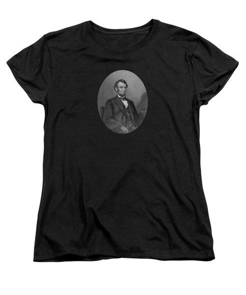 Abraham Lincoln Women's T-Shirt (Standard Cut) by War Is Hell Store