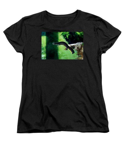 Alpine Newt Triturus Alpestris Women's T-Shirt (Standard Cut) by Gerard Lacz
