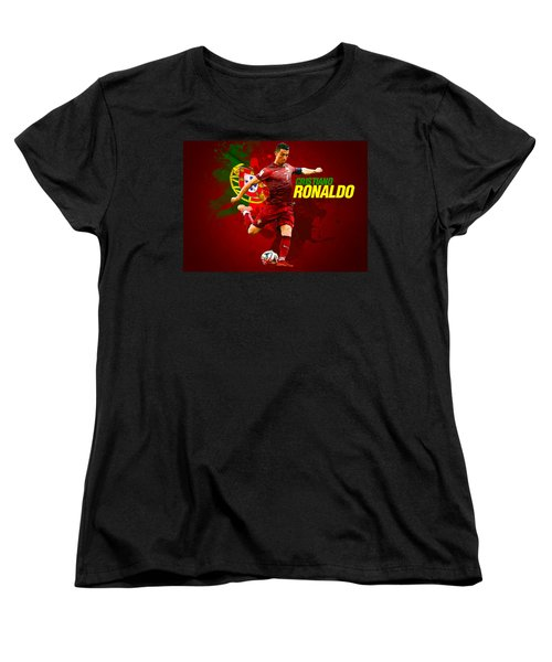 Cristiano Ronaldo Women's T-Shirt (Standard Cut) by Semih Yurdabak