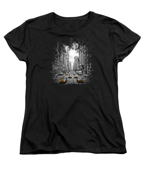 5th Avenue Yellow Cabs Women's T-Shirt (Standard Cut) by Melanie Viola