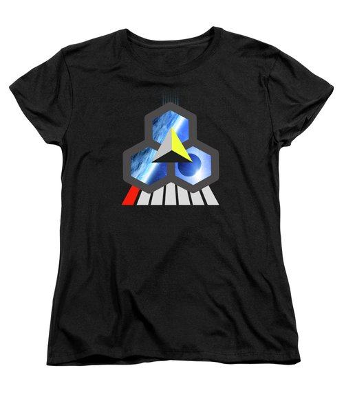 Abstract Space 1 Women's T-Shirt (Standard Cut) by Russell K