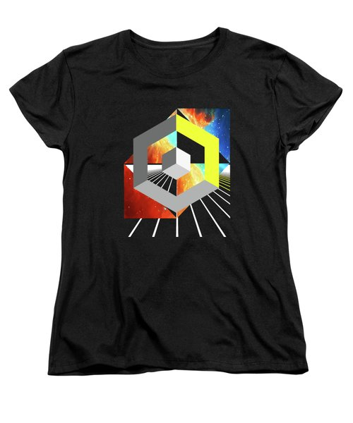 Abstract Space 4 Women's T-Shirt (Standard Cut) by Russell K