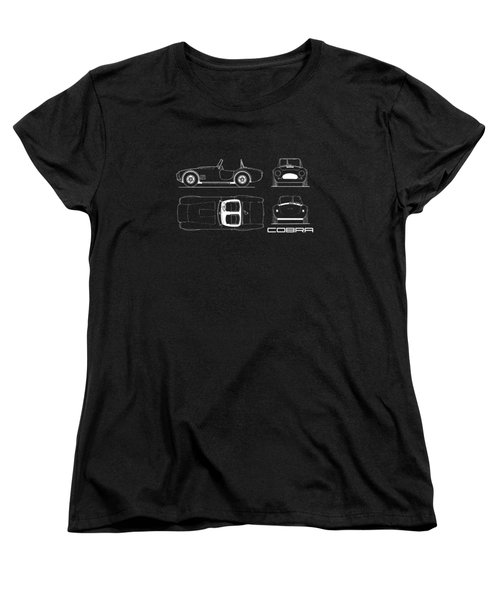 Ac Cobra Blueprint Women's T-Shirt (Standard Cut) by Mark Rogan
