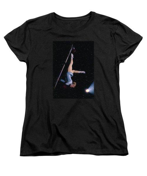 Aerial Acrobat Women's T-Shirt (Standard Cut) by Jon Delorme
