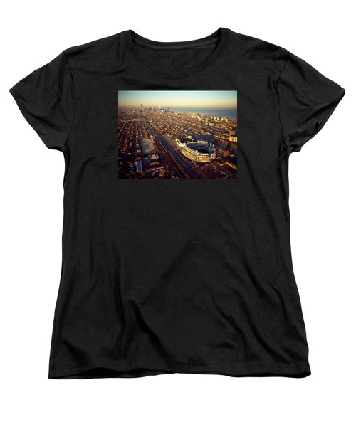 Aerial View Of A City, Old Comiskey Women's T-Shirt (Standard Cut) by Panoramic Images