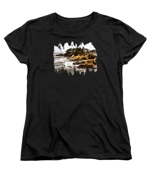 Arch Rock Depoe Bay Women's T-Shirt (Standard Cut) by Thom Zehrfeld