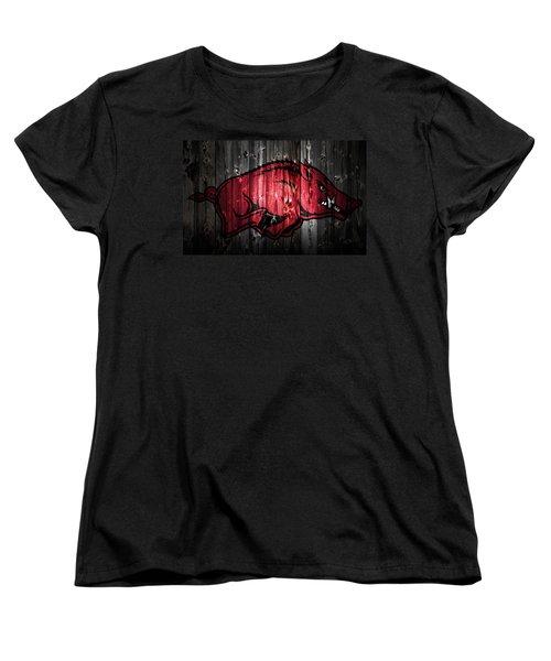 Arkansas Razorbacks 2a Women's T-Shirt (Standard Cut) by Brian Reaves
