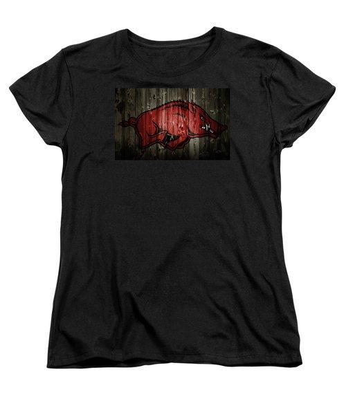 Arkansas Razorbacks 2b Women's T-Shirt (Standard Cut) by Brian Reaves