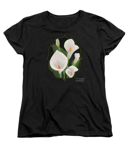 Calla Lilies Women's T-Shirt (Standard Cut) by Anastasiya Malakhova