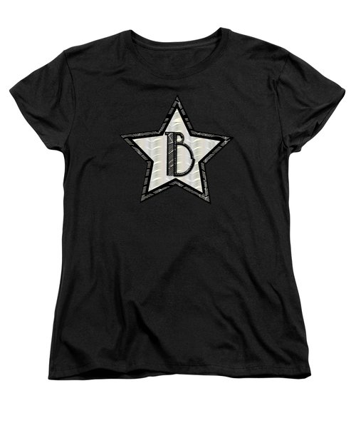 Star Of The Show Art Deco Style Letter B Women's T-Shirt (Standard Cut) by Cecely Bloom