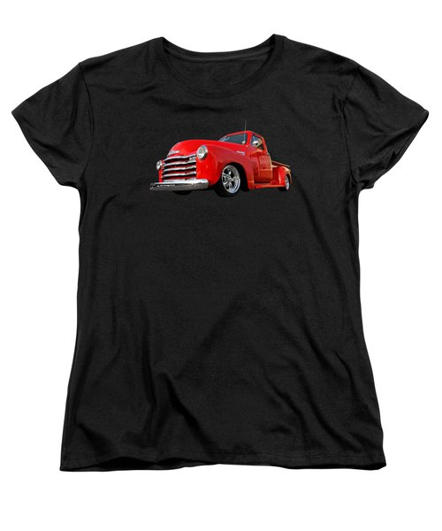 1952 Chevrolet Truck At The Diner Women's T-Shirt (Standard Cut) by Gill Billington