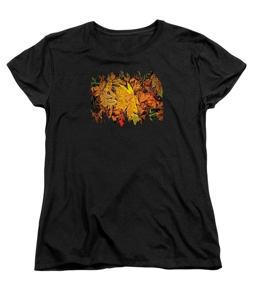 Autumn Leaves Of Beaver Creek Women's T-Shirt (Standard Cut) by Thom Zehrfeld