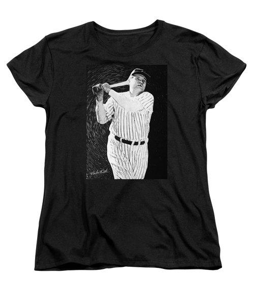 Babe Ruth Women's T-Shirt (Standard Cut) by Taylan Apukovska