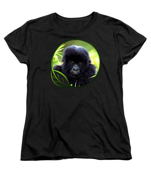 Baby Gorilla Women's T-Shirt (Standard Cut) by Dan Pagisun