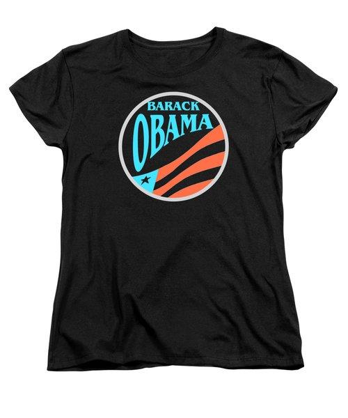 Barack Obama - Tshirt Design Women's T-Shirt (Standard Cut) by Art America Online Gallery