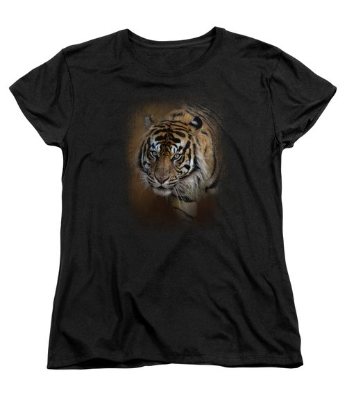 Bengal Stare Women's T-Shirt (Standard Cut) by Jai Johnson