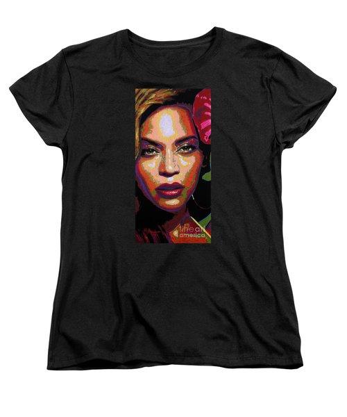 Beyonce Women's T-Shirt (Standard Cut) by Maria Arango