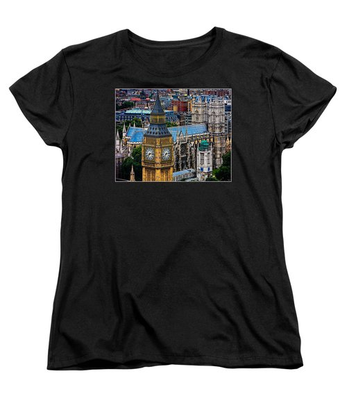 Big Ben And Westminster Abbey Women's T-Shirt (Standard Cut) by Chris Lord