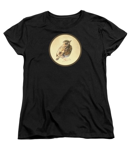 Blackbird Fledgeling Women's T-Shirt (Standard Cut) by Bamalam  Photography