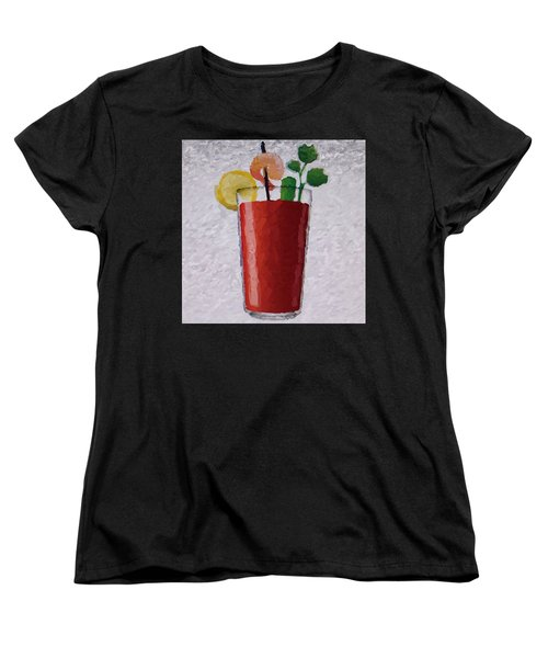 Bloody Mary Emoji Women's T-Shirt (Standard Cut) by  Judy Bernier