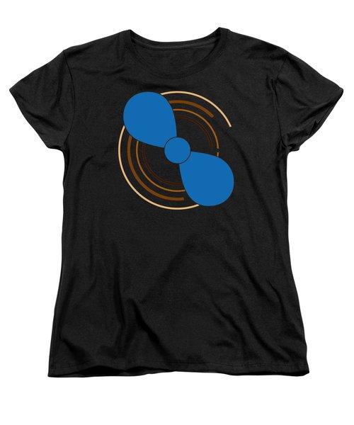 Blue Propeller Women's T-Shirt (Standard Cut) by Frank Tschakert