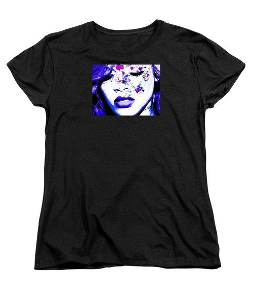 Blue Rihanna Women's T-Shirt (Standard Cut) by Alex Antoine