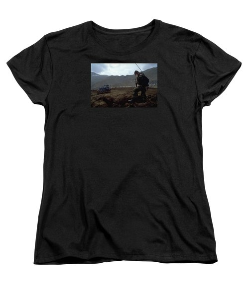 Women's T-Shirt (Standard Cut) featuring the photograph Boots On The Ground by Travel Pics