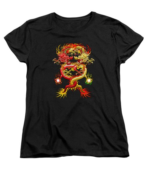 Brotherhood Of The Snake - The Red And The Yellow Dragons  Women's T-Shirt (Standard Cut) by Serge Averbukh